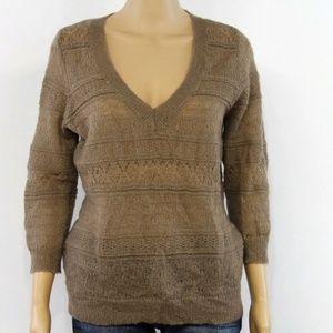 New York & Company Women's Sweater Beige Tan